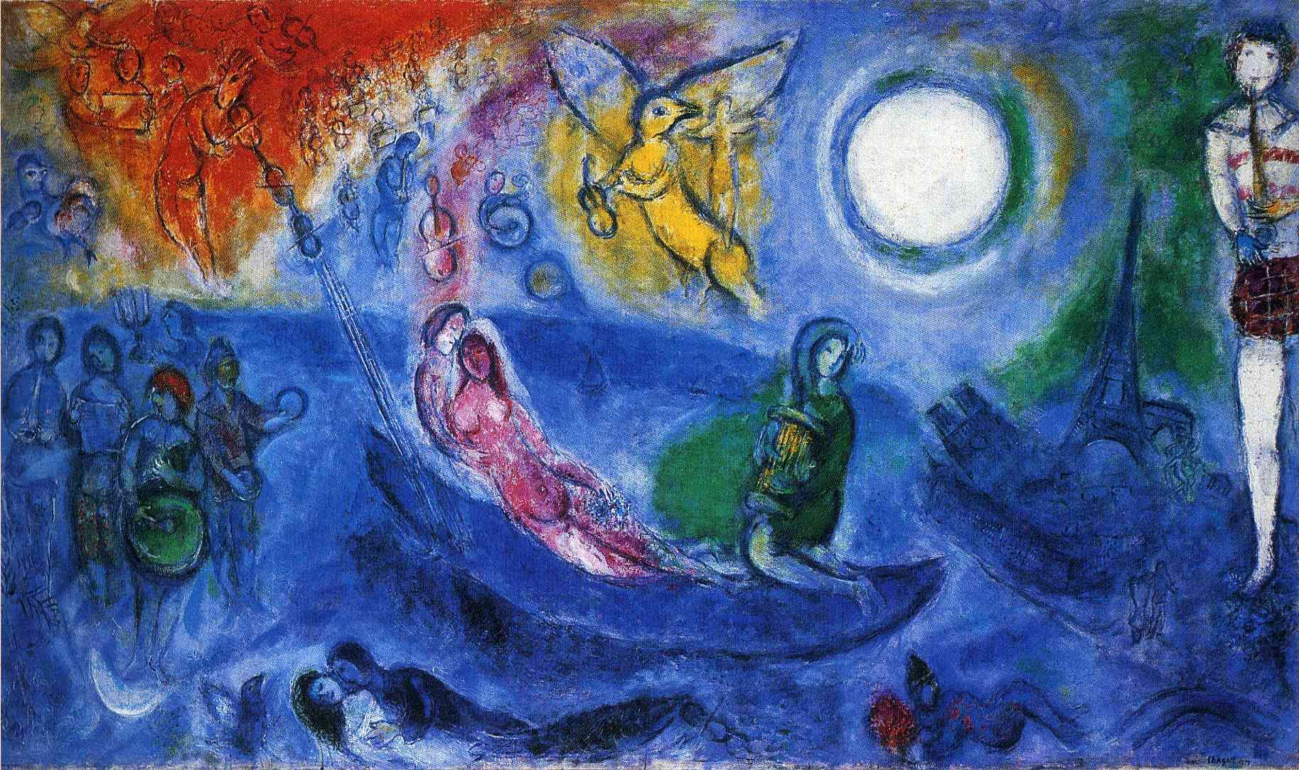 Pinturas De Chagall Marc Chagall Quotthe Concert Quot 1957 Private Collection