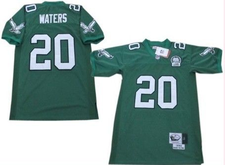 timeless design 06a92 d6fbf Philadelphia Eagles #20 Andre Waters Light Green Throwback ...