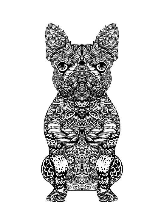 Mandala Frenchie Art Print I L L U S T R A T I O N