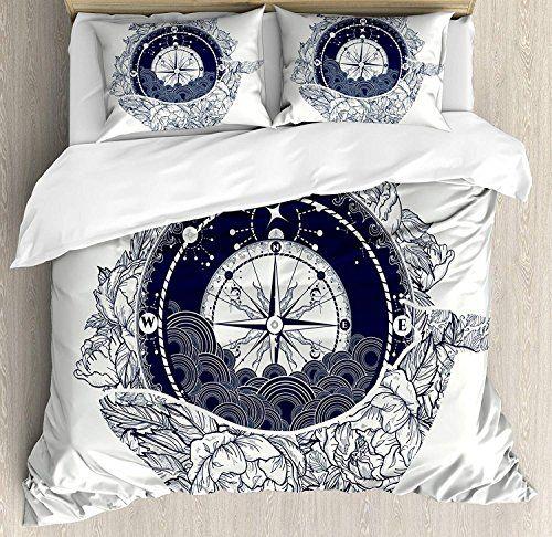 Chasoea Adventure Queen Bedding Comforter Sets All Season 4pc Duvet