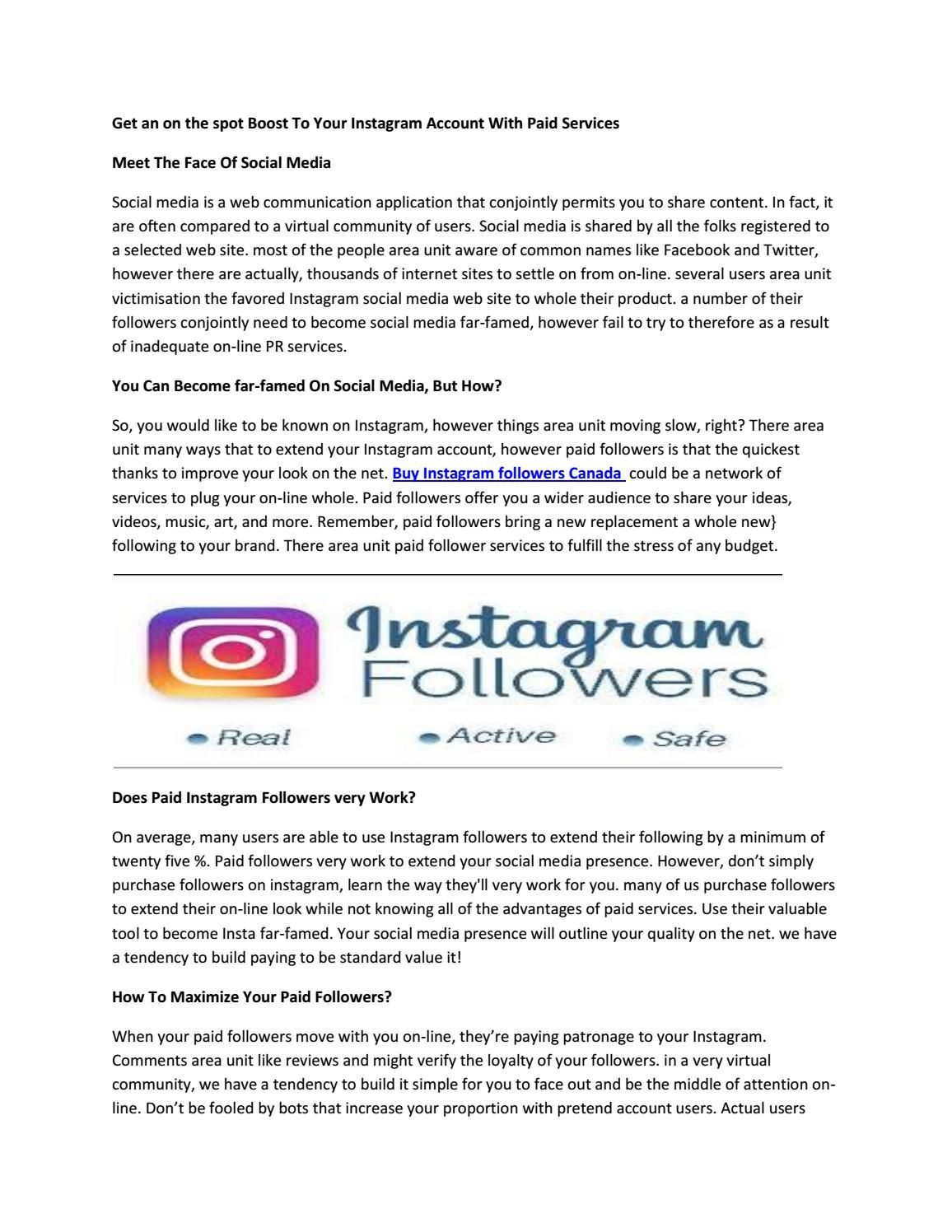 Get an on the spot Boost To Your Instagram Account With