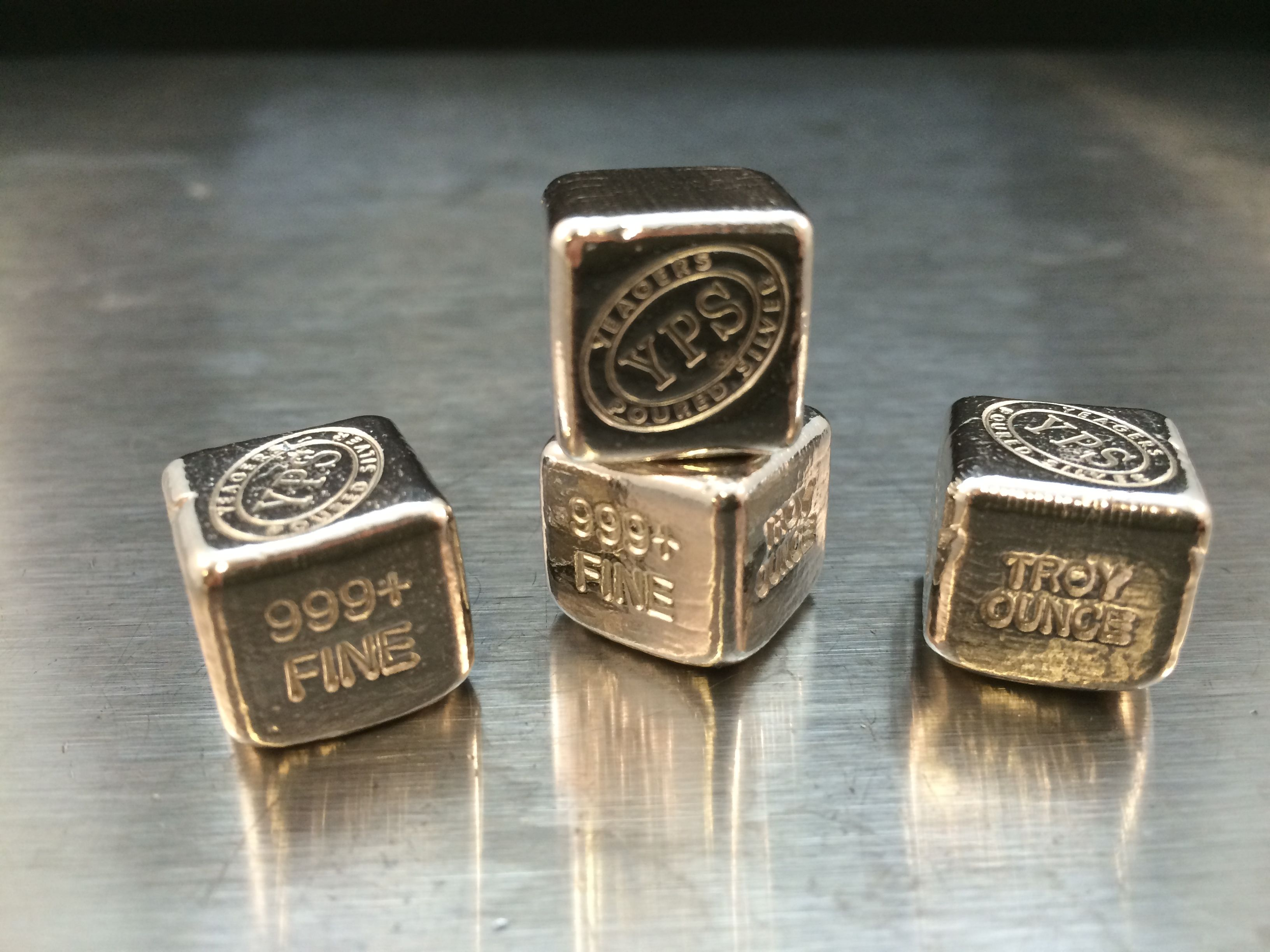 1oz Cube 24 00 Silver Bullion Gold Bullion Bars Buy Gold And Silver