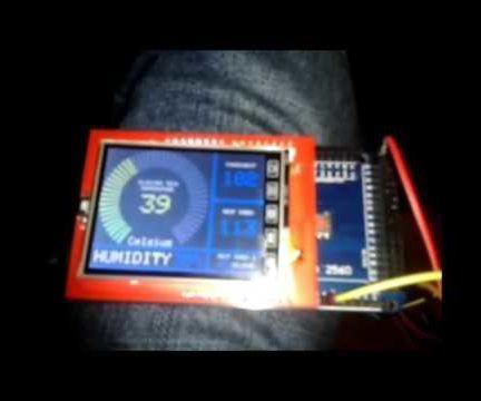 Arduino Spfd5408 Tft Lcd 2 4 Temp And Humidity Monitor