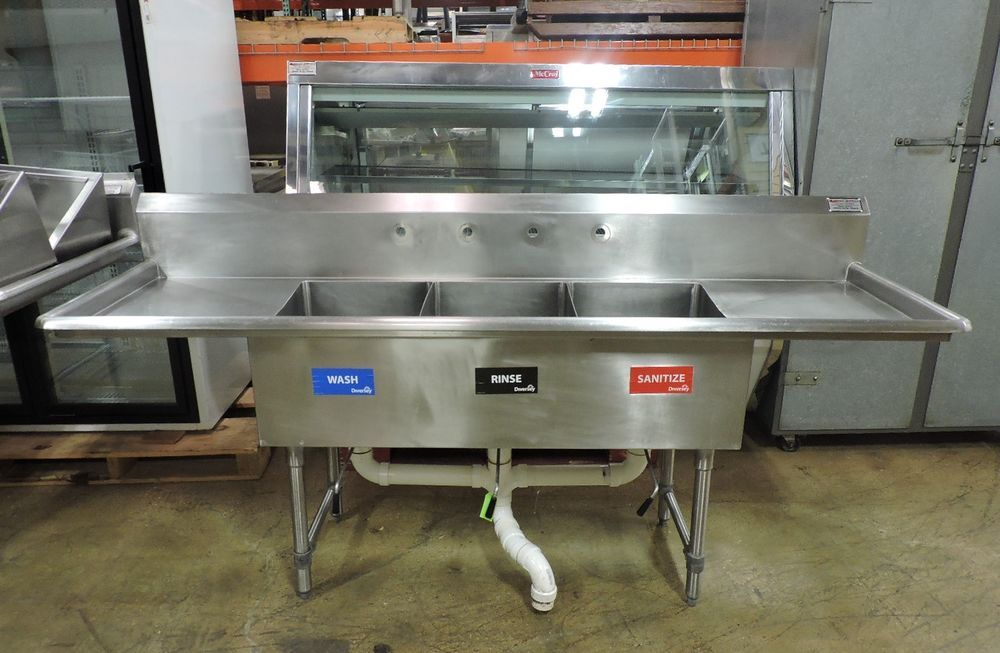 Commercial Stainless Steel 3 Compartment Sink With Images