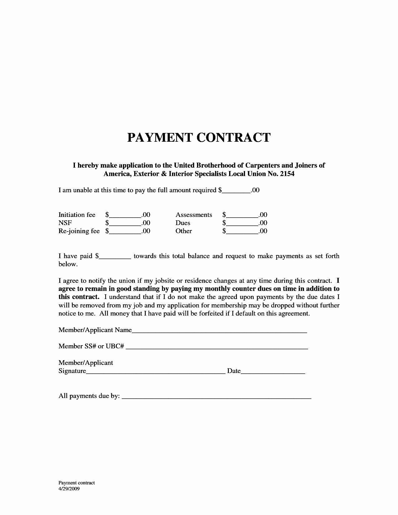 Fresh Car Payment Agreement Letter Quick Monthly Payment