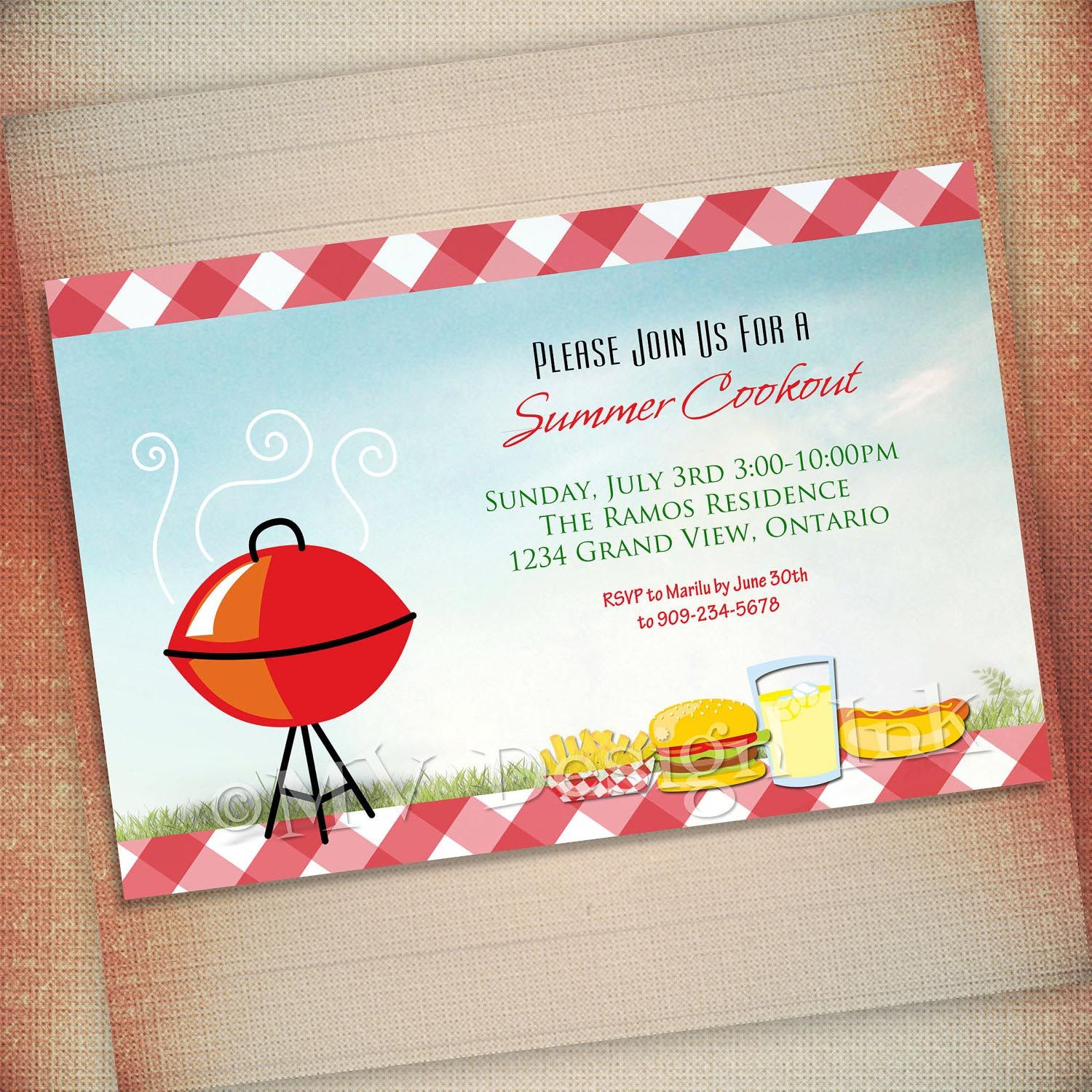 baby shower bbq invitation templates%0A BBQ Birthday Party Invitation Templates