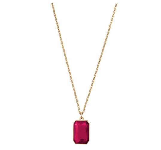 MICHAEL KORS  Crystal Gold-Tone Pendant Necklace