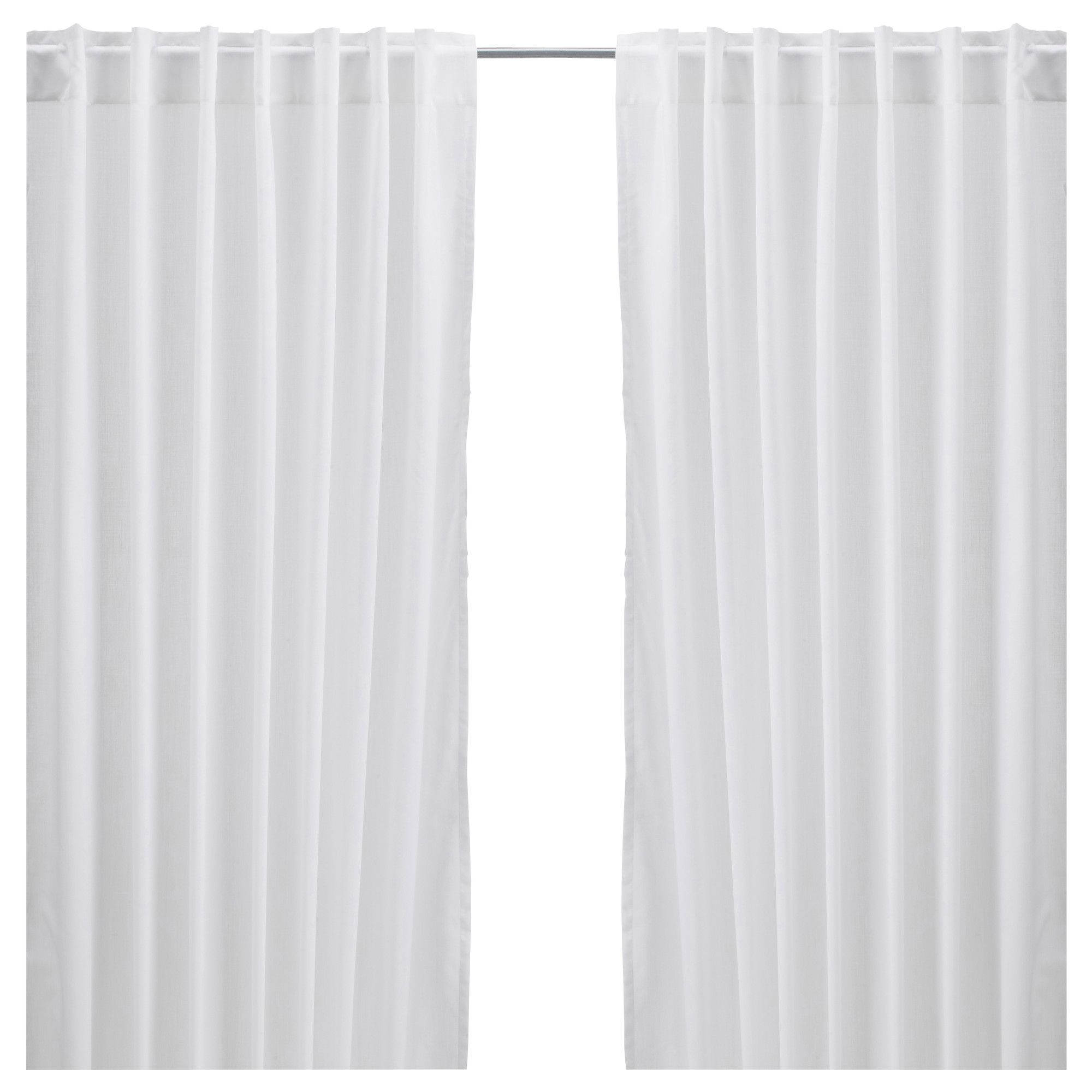 Vivan curtains 1 pair white ikea home pinterest ceiling room and living rooms - Pictures of curtains ...