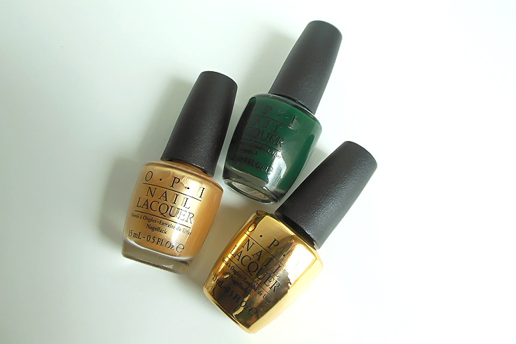 OPI Rollin' in Cashmere, OPI Christmas in plaid, OPI Don't Speak
