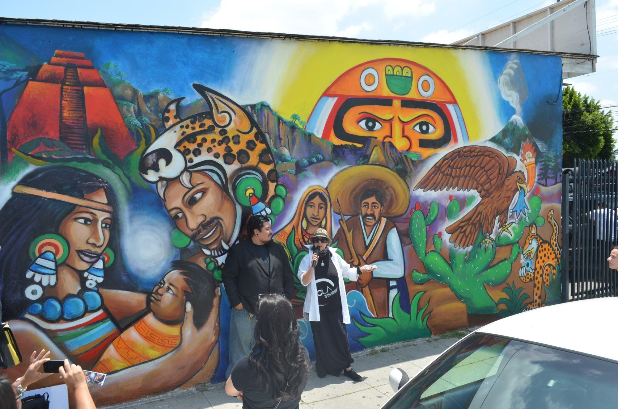 Indigenous murals in schools mural painting art