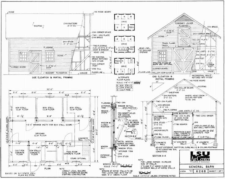Need Help Building A Barn Check Out These Free Barn Plans Barn Plans How To Plan Pole Barn House Plans