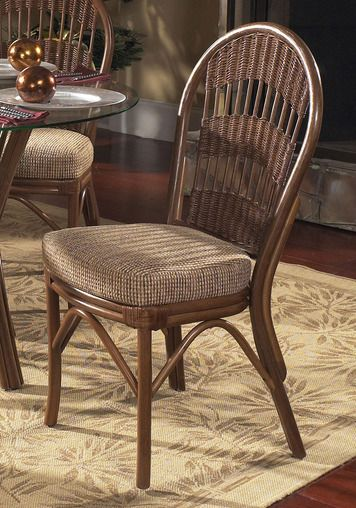 Beau Bermuda Wicker/Rattan Dining Side Chair | South Sea Rattan | Home Gallery  Stores