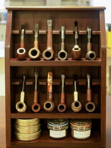 Pipe Rack 12 Pipe Cabinet With Tobacco Storage