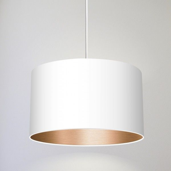 HANG LOOSE \/ Pendelleuchte in weiss\/kupfer Lampen Pinterest - moderne pendelleuchten wohnzimmer