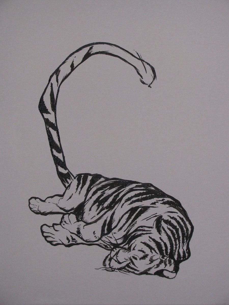 2823b7bfb sleeping tiger tattoo - Google Search   Ideas for artwork   Tiger ...
