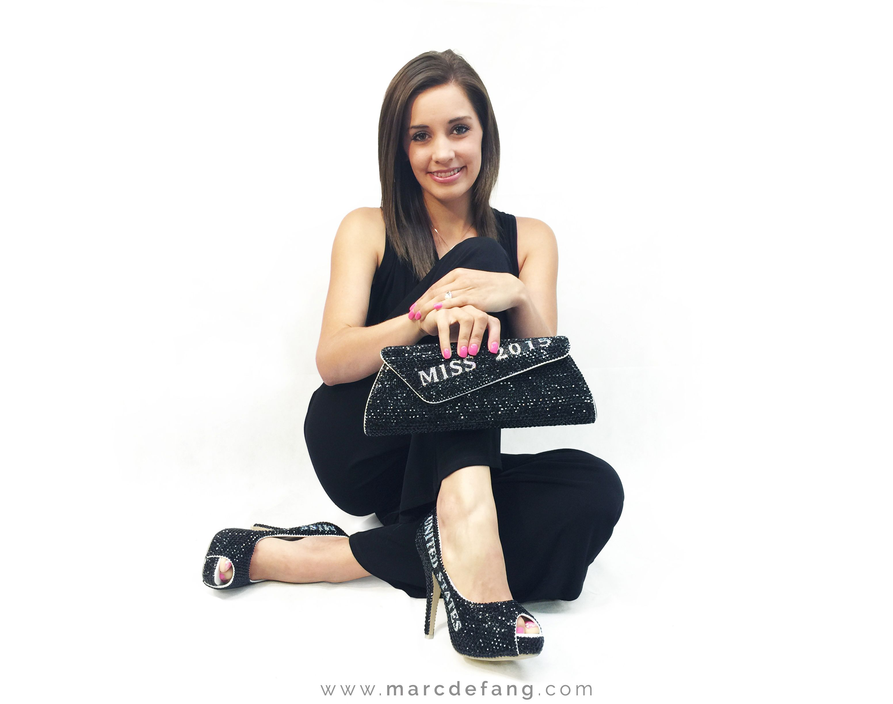#MarcDefang #latest #New #JetBLACK #Crystal #Pageant #Title #Shoes #heels and #Purse http://www.marcdefang.com/pageant-ladies/