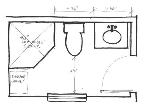small bathroom plans 5 x 7 in 2020 | Small bathroom floor ...