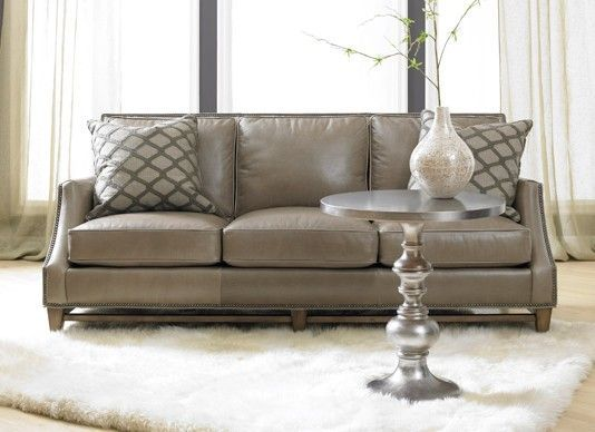 Grey Leather Sofa | Madigan Gray Leather Sofa @ Decadent Avenue. | Decadent  Avenue Living