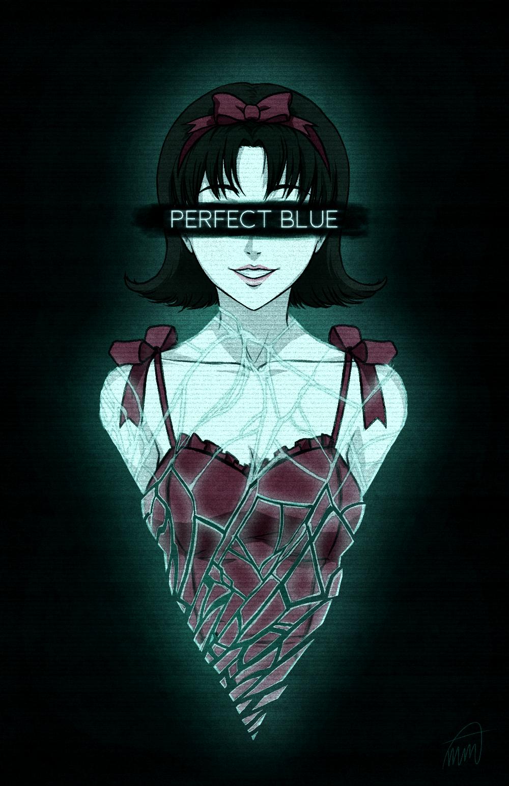 Mima Kirigoe Perfect Blue By Sketchmenot Art On Deviantart Blue Digital Art Blue Anime Anime Movies