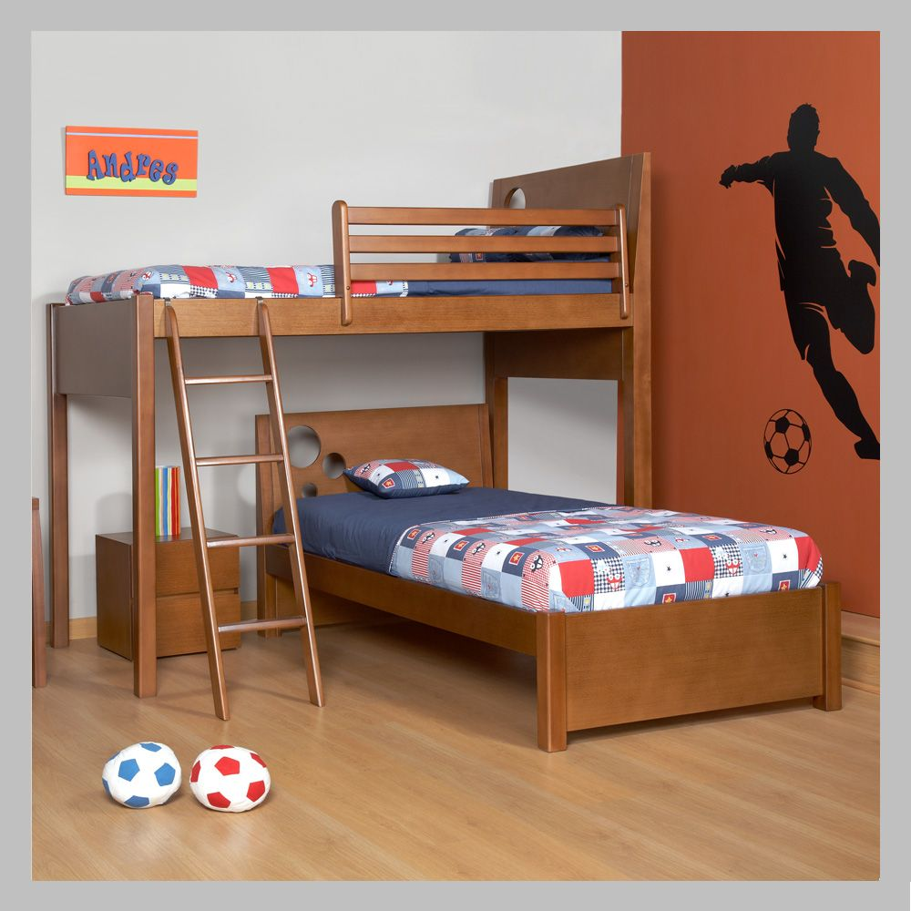 Pin de alejandra d vila en cama ni o camarotes en madera for Literas de madera para ninos