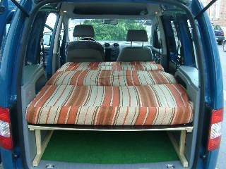 bett im caddy caddy camper pinterest camping. Black Bedroom Furniture Sets. Home Design Ideas