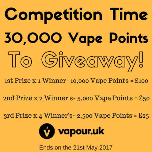 Vapour UK Giveaway! 300 worth (05/21/2017){WW} via