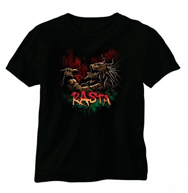 Rasta Singing Skull Short Sleeve T-shirt