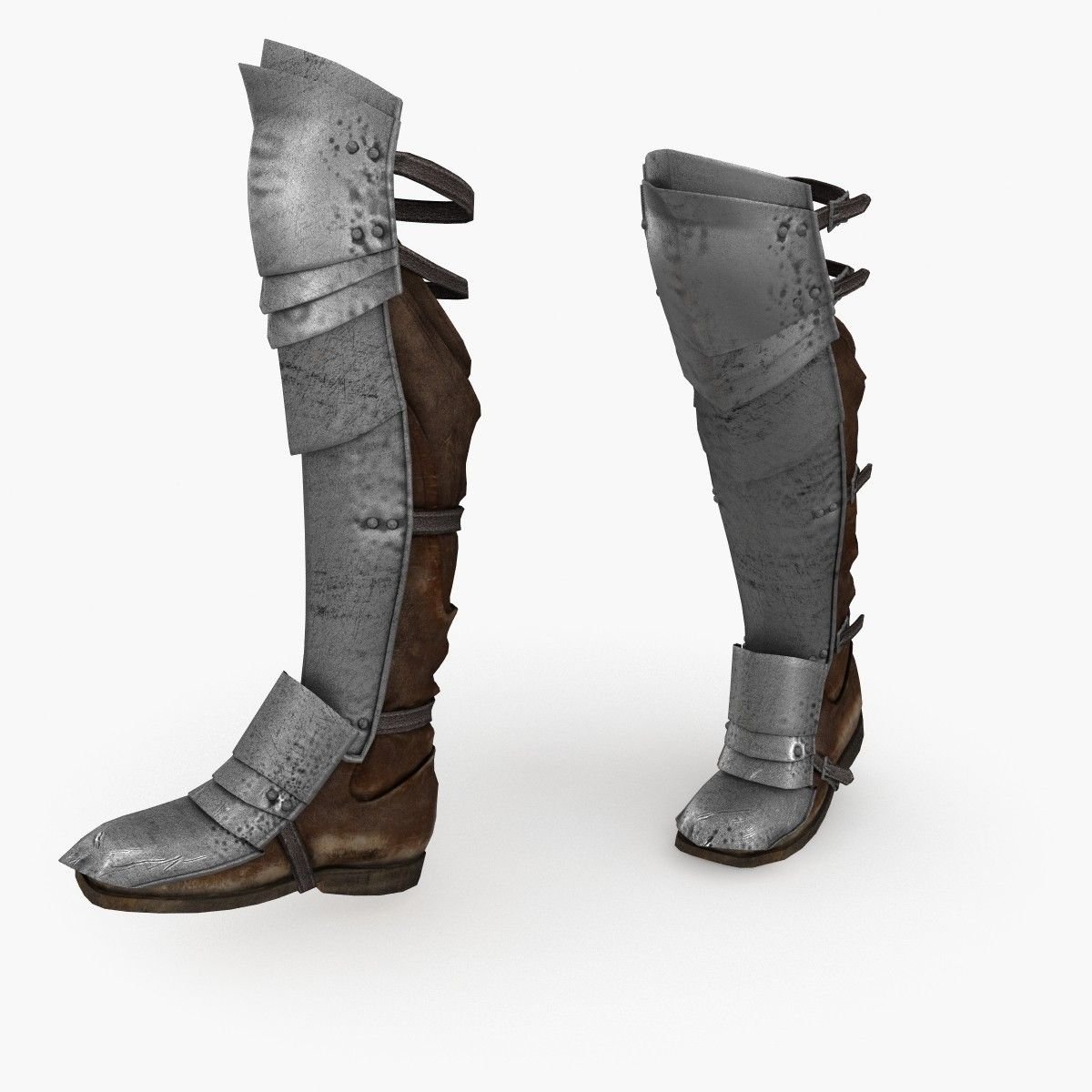 medieval armour boots v3   Armor boots