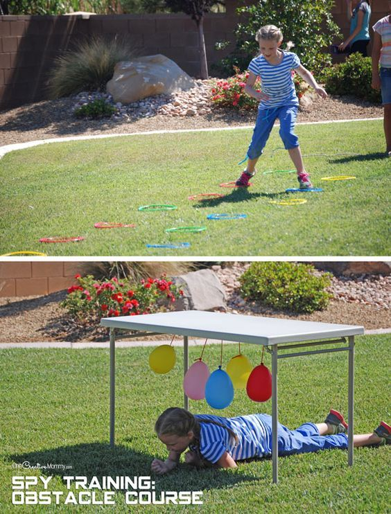 Spy Birthday Party Spy Training Spy birthday parties Obstacle
