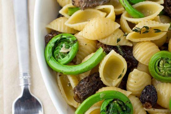 Fiddlehead & Morel Mushroom Pasta