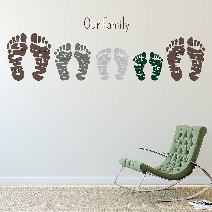 Personalised Footprint Wall Art Stickers Personalized Wall Art Footprint Wall Art Next Wall Art