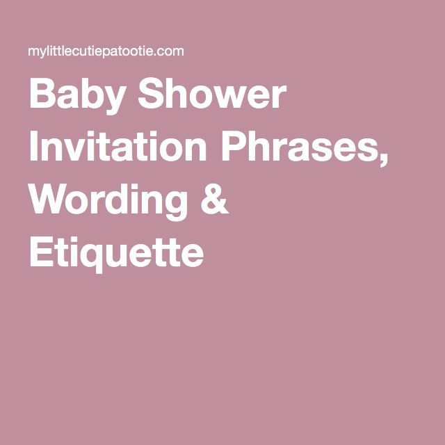find out about child bathe invitation phrases wording etiquette