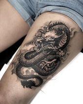 Photo of Dragon Tattoo: 95 FOTOS UND DIE BEDEUTUNGEN DIESES LEGENDÄREN TIERES –  Dragon …