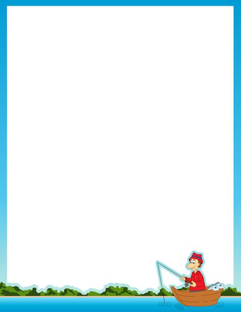 printable fishing border  free gif  jpg  pdf  and png