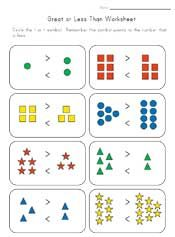 Worksheets Kindergarten Math