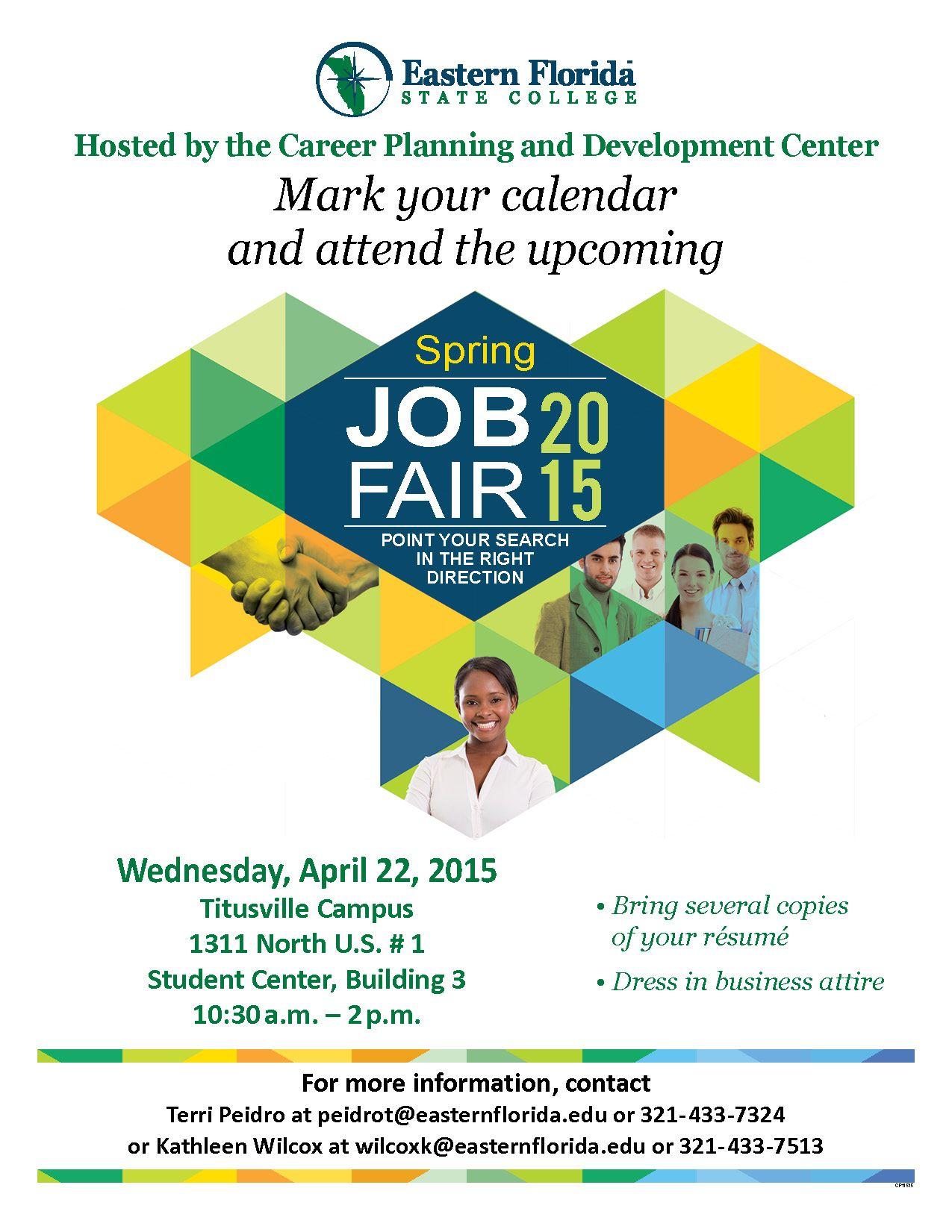 Eastern Florida State College job fair information Job