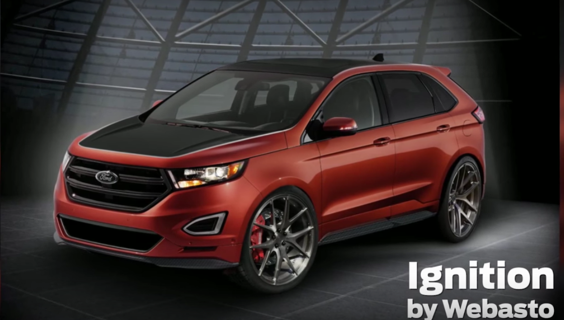 2015 Sema Ford Edge Sport Ignition Concept It Has A Custom Red