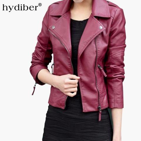 7441cba1a95 2018 New Short PU Leather Jacket Women Black PU Plus Size Coat Fashion Coat  z2