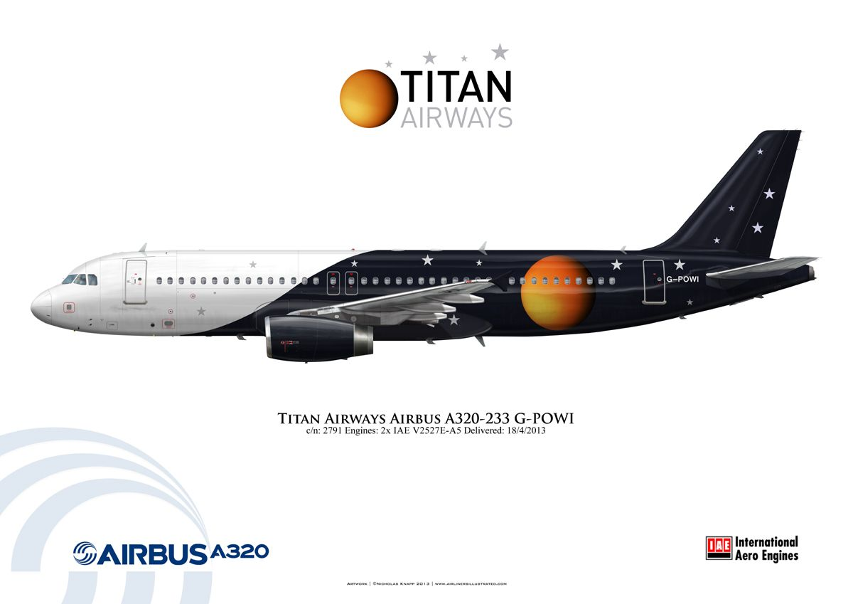 Charter Airline Titan Airways Airbus A320 233 G Powi