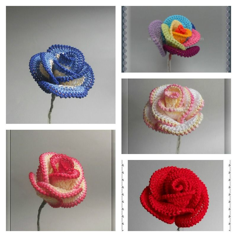How To Crochet Pretty Roses Crochet Pinterest Crochet Crochet