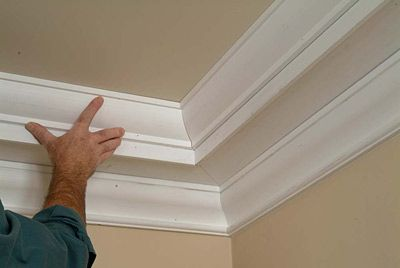 How To Build Up Crown Moulding To Create A Tray Ceiling