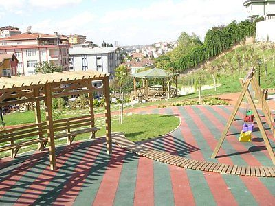 Rubber Playground Tiles / Mats - Play Areas - Swings -Safety Garden Slide