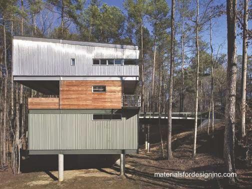 Arquitectura de casas casa residencial de metal con for Arquitectura prefabricada