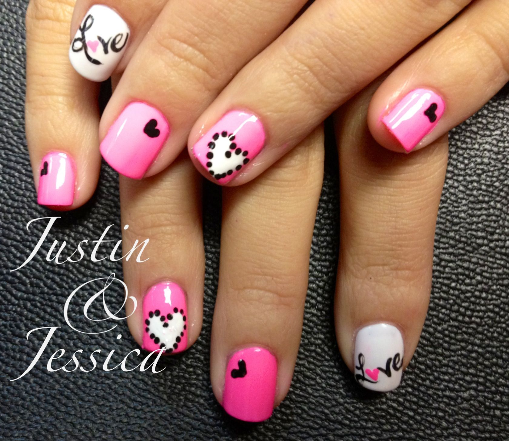 Valentine Nail Art Heart Love All That Gooshy Stuff Nails By Jeannie Jackson The Nail Station Gle Valentine Nail Art Valentines Nails Shellac Nail Art