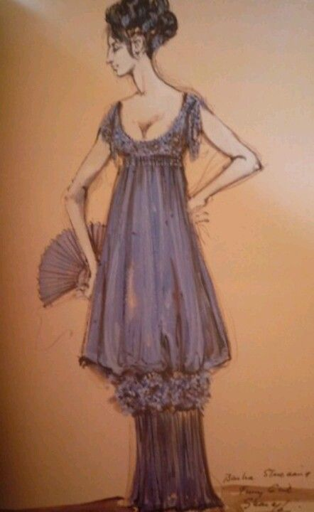 Irene Sharaff costume sketch,Funny Girl