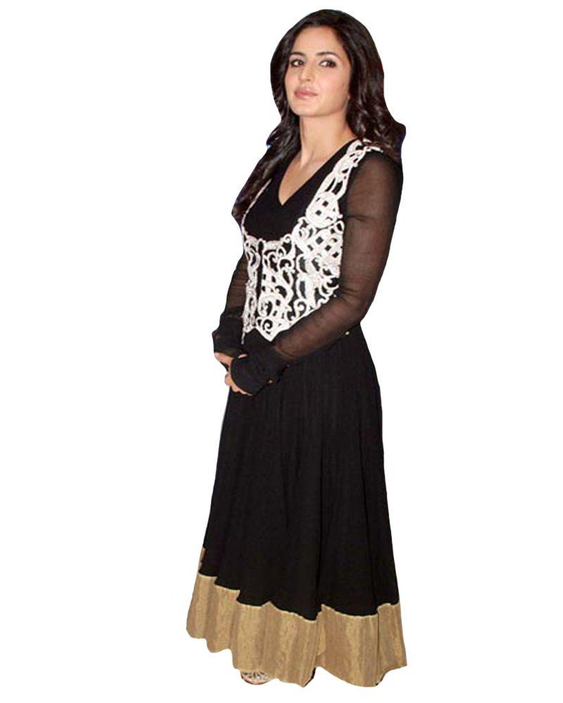 #Katrina Kaif - Black #Indian Idol #Koti - #Embroidery ...