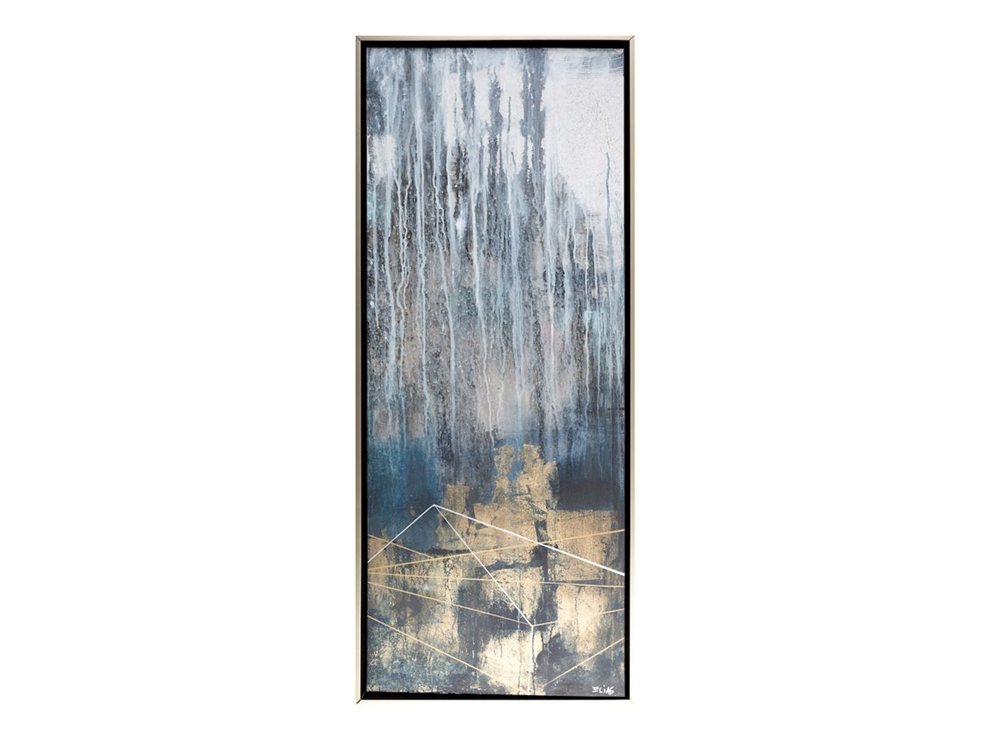 Abstract I Framed Art For A Smaller Wall A Tall Thin Piece Of Artwork Can Really Bring The Space To Life Wall Art Painting Art