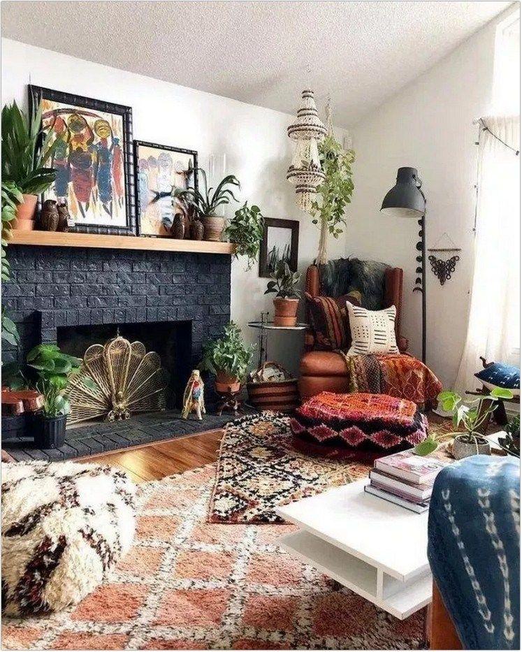 Boho Wall Decor Ideas In 2020 Boho Living Room Bohemian Living Rooms Decor