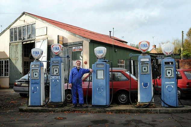Britain's oldest petrol pumps still in service after more than 50 years