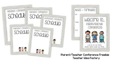 editable parent teacher conference freebie welcome poster